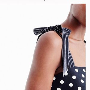 J Crew Polka Dot - Bow Tie Strap Dress